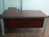 TABLE WITH SIDE CABINET